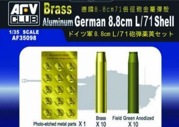 German 8,8 cm L/71 SHELL · AF 35098 ·  AFV-Club · 1:35