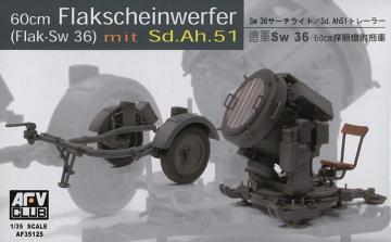 SW-36 / 60 cm SEARCHLIGHT w/SDANH 51 TRAILER · AF 35125 ·  AFV-Club · 1:35