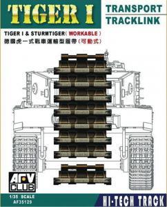 Tiger Transport track workable · AF 35129 ·  AFV-Club · 1:35