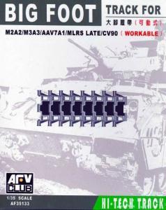 BIG FOOT TRACKS (BRADLEY/AAV7/MLRS) · AF 35133 ·  AFV-Club · 1:35