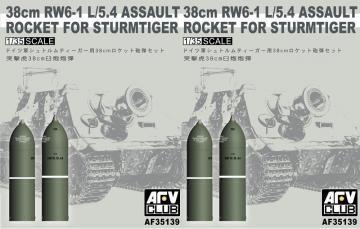 38cm RW61 rocket set for Sturmtiger · AF 35139 ·  AFV-Club · 1:35