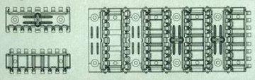 T-34 55cm stamped track (workable) · AF 35142 ·  AFV-Club · 1:35