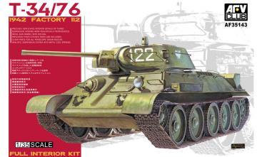 T34/76 1942, Factory 112 · AF 35143 ·  AFV-Club · 1:35