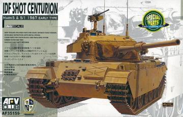 IDF Shot Centurion Mark 5 & 5/1 1967 Early Type · AF 35159 ·  AFV-Club · 1:35
