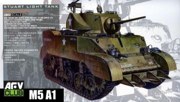 US M5A1 Late type w/Hedgerow cutter · AF 35161 ·  AFV-Club · 1:35