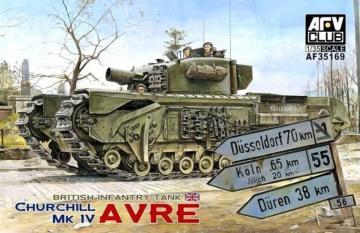 Churchill MK IV AVRE (w/vinyl & work.tr. · AF 35169 ·  AFV-Club · 1:35