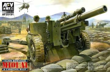 105mm Howitzer M101 A1 Carriage M2 A2 · AF 35191 ·  AFV-Club · 1:35