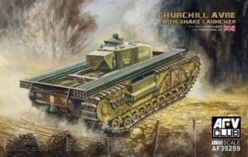 Churchill avre with snake launcher · AF 35259 ·  AFV-Club · 1:35