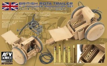 WW2 British Rota trailer W/2 Pounder Ammunition Set · AF 35264 ·  AFV-Club · 1:35