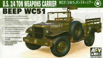 WC-51 4X4 WEAPONS CARRIER DODG · AF 35S15 ·  AFV-Club · 1:35