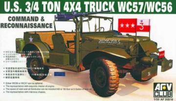 WC-57 4X4 DODGE COMMAND CAR · AF 35S16 ·  AFV-Club · 1:35