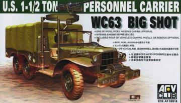 DODGE WC-63 6X6 TRUCK · AF 35S18 ·  AFV-Club · 1:35