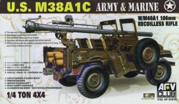 JEEP M38 w/106 mm GUN · AF 35S19 ·  AFV-Club · 1:35