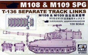 M109 SP GUN TRACKS · AF 35S23 ·  AFV-Club · 1:35