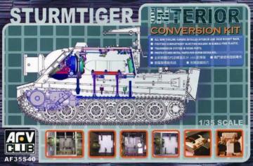 STURMTIGER INTERIOR SET · AF 35S40 ·  AFV-Club · 1:35