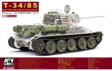T-34/85 Factory 174 with trans. turret · AF 35S56 ·  AFV-Club · 1:35