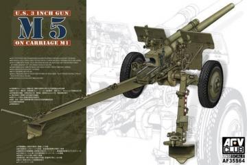 3in Gun M5 On Carriage M1 · AF 35S64 ·  AFV-Club · 1:35