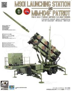 M901 Launching Station an MIM-104F Patriot PAC-3 ROC(Taiwan)US Army Version · AF 35S93 ·  AFV-Club · 1:35