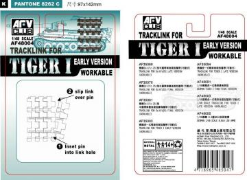 TRACK LINK TIGER I EARLY · AF 48004 ·  AFV-Club · 1:48