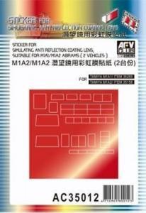 Sticker anti reflection for M1A1 M1 M2 · AF AC3512 ·  AFV-Club · 1:35