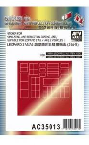 Sticker anti reflection for Leopard IIA5 · AF AC3513 ·  AFV-Club · 1:35