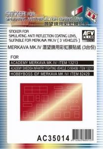 Sticker anti reflection for Merkava MkIV · AF AC3514 ·  AFV-Club · 1:35