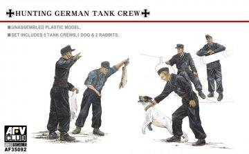 Hunting German Tank Crew-5 Figures with dog · AF AF35092 ·  AFV-Club · 1:35