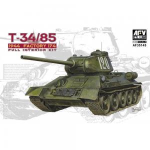 T34/85 Model 174 Factory - Full interior Kit · AF AF35145 ·  AFV-Club · 1:35