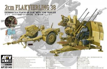 4X2cm Flakvierling 38 with trailer · AF AF35149 ·  AFV-Club · 1:35
