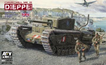 Churchill Mk.3 (Dieppie) include Workable Tracks · AF AF35176 ·  AFV-Club · 1:35