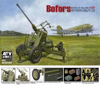British Vers.of Bofors 40mm MKIII AA Gun · AF AF35187 ·  AFV-Club · 1:35