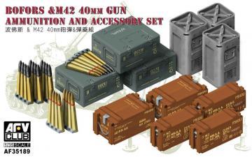Bofors&M42 40mm Gun AMMO&Accessories Set · AF AF35189 ·  AFV-Club · 1:35