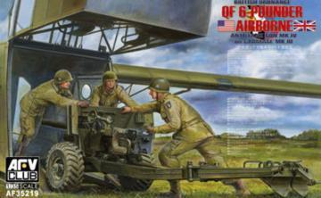 British Mk.4 6pdr airborne anti-tank Gun · AF AF35219 ·  AFV-Club · 1:35