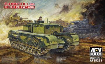 British 3 inch gun Churchill tank · AF AF35253 ·  AFV-Club · 1:35