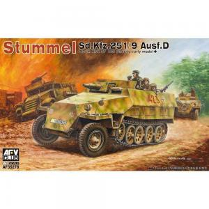 Stummel Sd.Kfz.251/9 Ausf.D 7,5cm KwK37 · AF AF35278 ·  AFV-Club · 1:35
