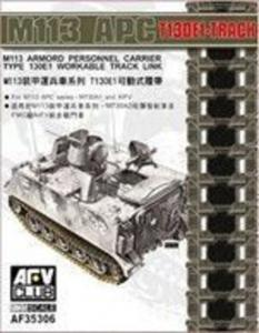 M113 APC T130E1 Workable Track Link · AF AF35306 ·  AFV-Club · 1:35