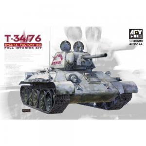 T34/76 Mod. 1942/43 No.183 (Full Int.) · AF AFV35144 ·  AFV-Club · 1:35