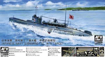 Jap. Navy Submarine I-27 W/A-Target · AF AFVSE73514 ·  AFV-Club · 1:350