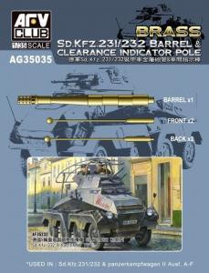 SD.KFZ 231/232 Barrel&Clearance Ind.POLE · AF AG35035 ·  AFV-Club · 1:35