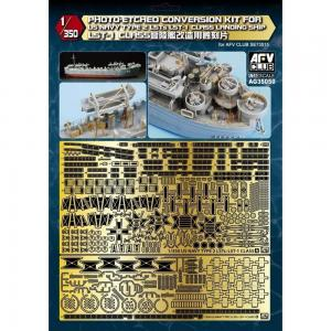 Photo-Etched conversion set for US Navy Type 2 LST-1 Class · AF AG35050 ·  AFV-Club · 1:350