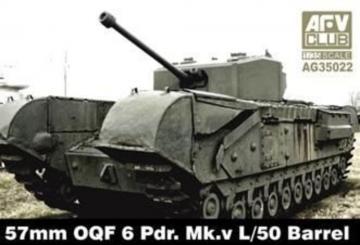 57mm OQF 6 Prd. Mk.V L/50 Barrel · AF AG3522 ·  AFV-Club · 1:35