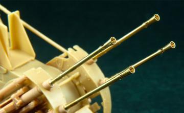 20mm Flak 38 barrels with flash suppres · AF AG3528 ·  AFV-Club · 1:35