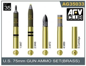 75mm gun ammo brass set · AF AG3533 ·  AFV-Club · 1:35