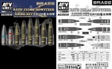 NATO 155mm Howitzer Ammo Set (Brass) · AF AG3539 ·  AFV-Club · 1:35