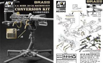 U.S. M2HB .50 Cal Machine Gun Con. Kit · AF AG3542 ·  AFV-Club · 1:35