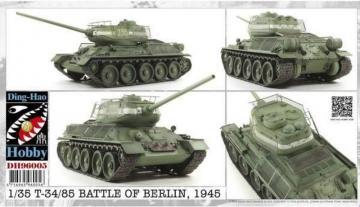 T34/85 Battle of Berlin 1945 · AF DH96005 ·  AFV-Club · 1:35
