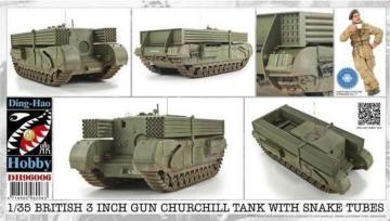 British 3 Inch gun Churchill tank · AF DH96006 ·  AFV-Club · 1:35