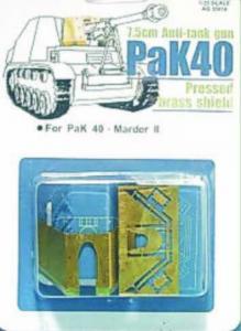 BRASS SHIELD PAK40 · AF G35012 ·  AFV-Club · 1:35