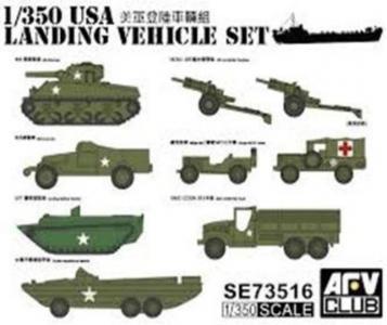 US WW2 Vehicle Set · AF SE73516 ·  AFV-Club · 1:350