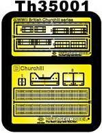 Super-details set for British Churchill · AF TH35001 ·  AFV-Club · 1:35